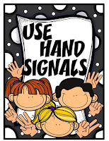 Hand signals students use in elementary school when they need permission from teacher