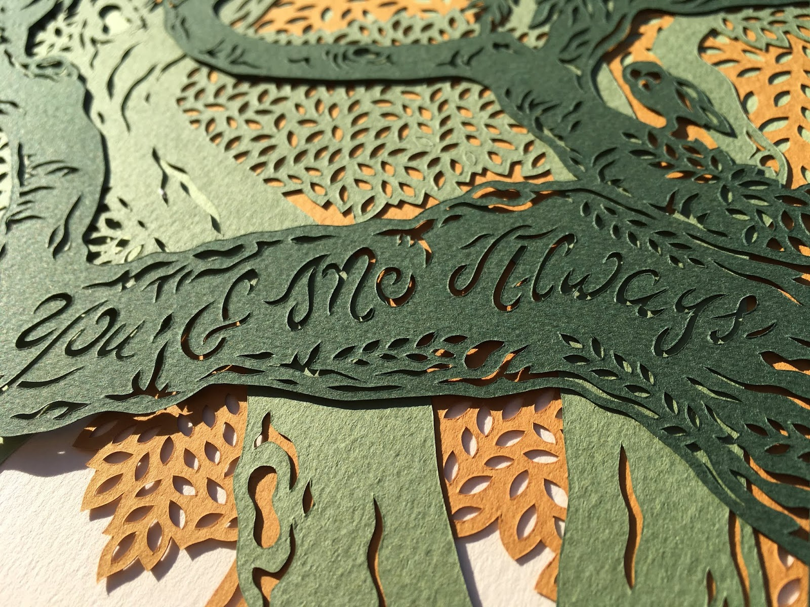 ketubah by Woodland Papercuts by Naomi Shiek