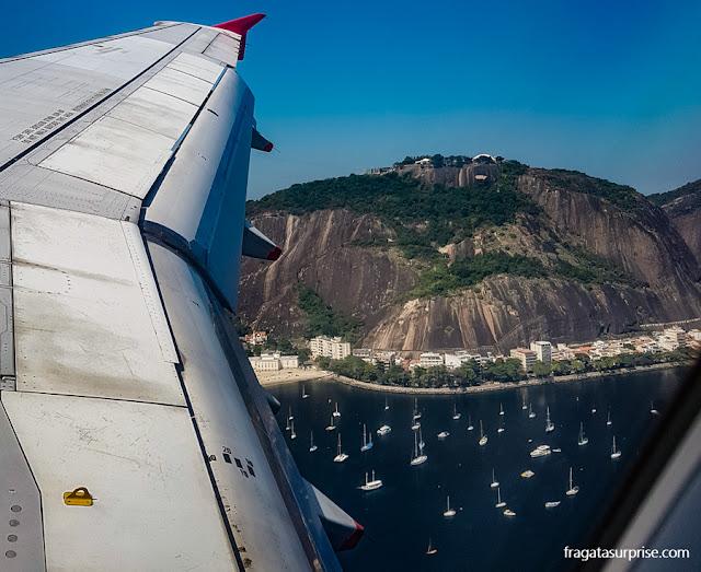 O Rio de Janeiro visto de um avião