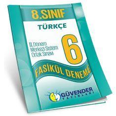 Güvender 8.Sınıf TEOG 2 Türkçe 6 Fasikül Deneme