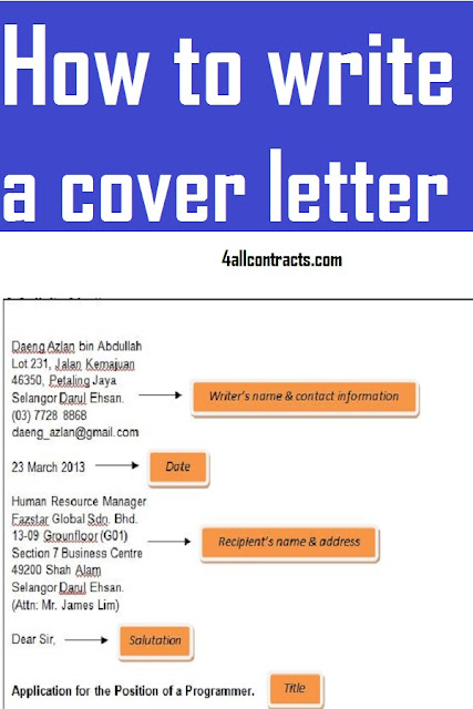 How to write a cover letter - with examples docs