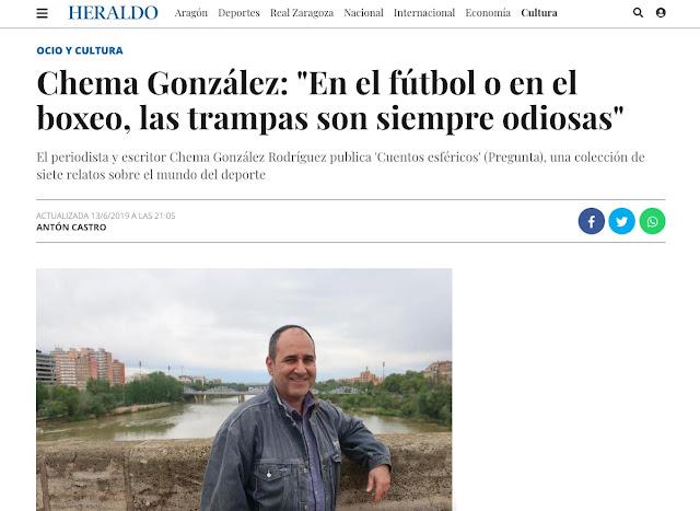 https://www.heraldo.es/noticias/ocio-y-cultura/2019/06/13/chema-gonzalez-en-el-futbol-o-en-e-boxeo-las-trampas-son-siempre-odiosas-1320293.html