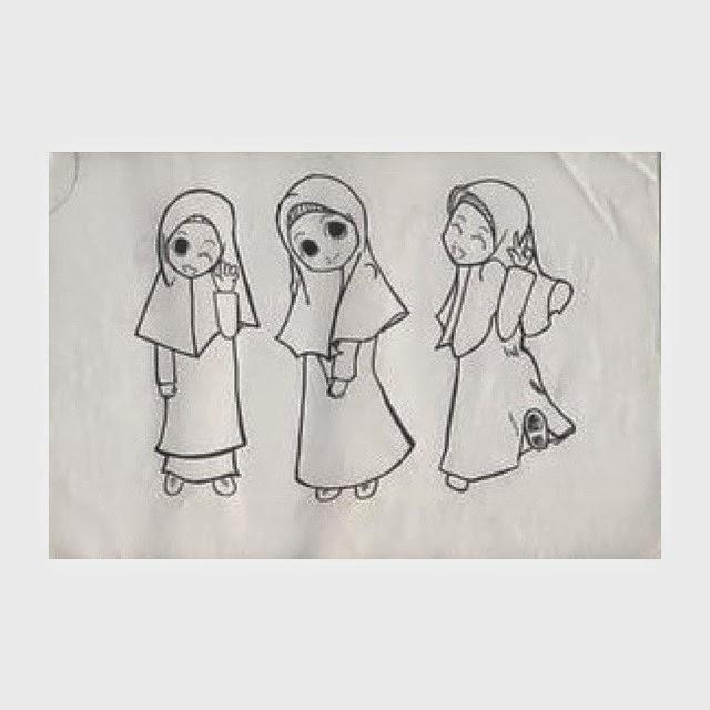 Animasi Muslimah Berhijab Syari