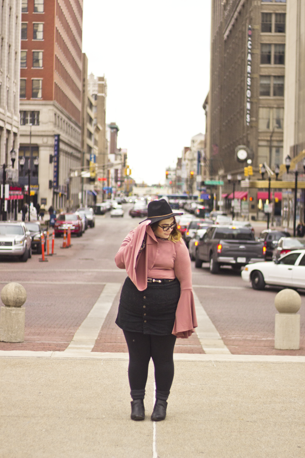 Bell sleeves winter fashion outfit city scape ootd