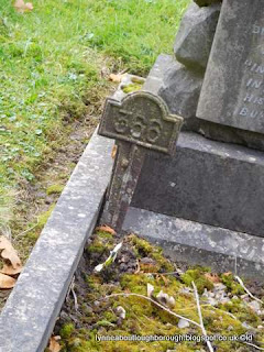 Woodhouse Eaves cemetery closeup of plot marker