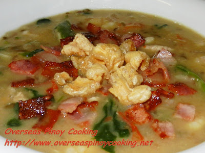 Mung Bean Soup with Bacon and Pork Chicharon