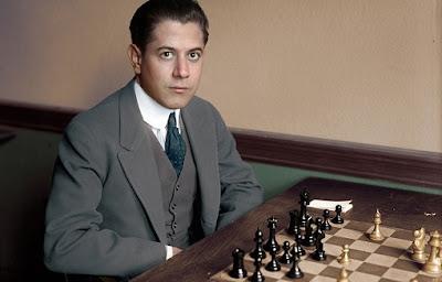 Le champion d'échecs José Raúl Capablanca (1888-1942)