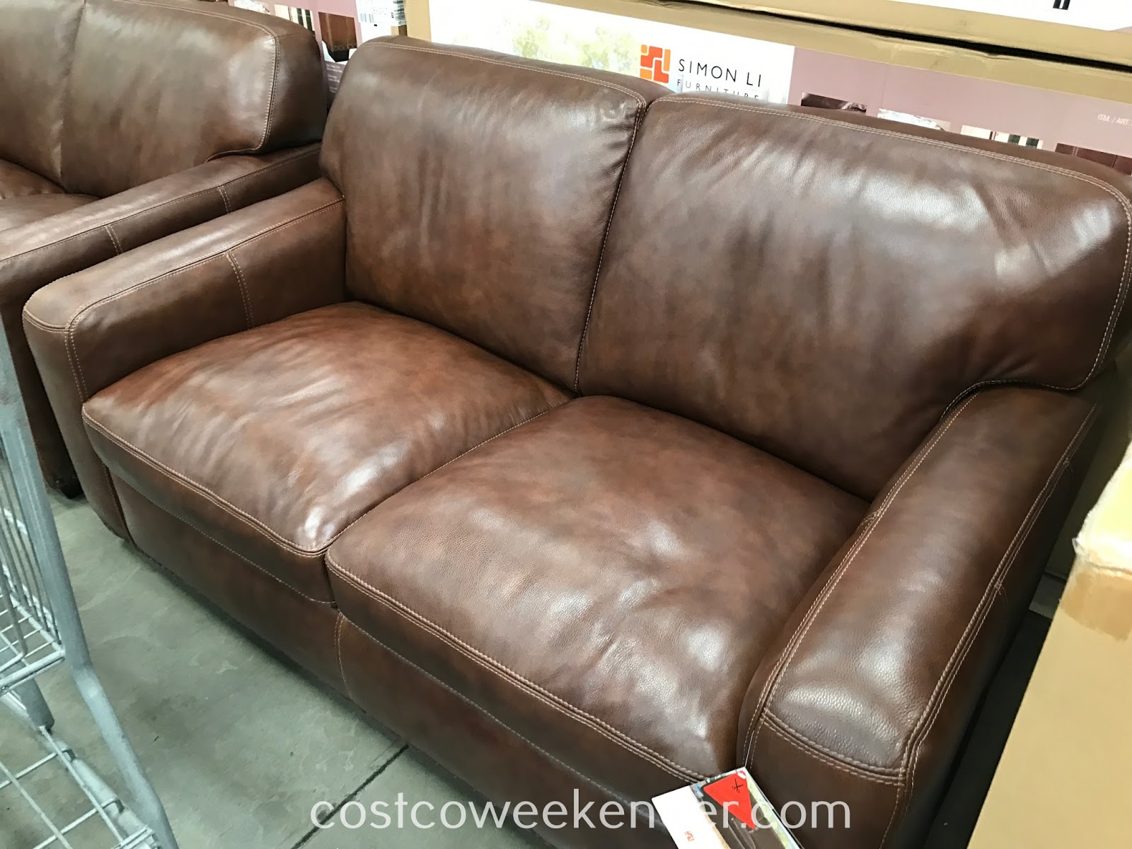 Simon Li Leather Loveseat: perfect for you and your loved one