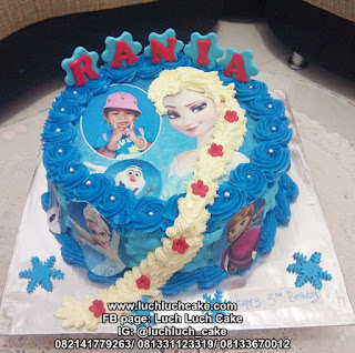 Birthday Cake Frozen Edible Image