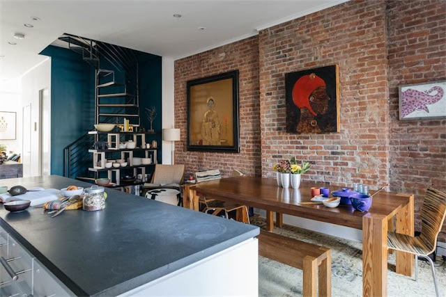 pared de ladrillo visto en la cocina chicanddeco