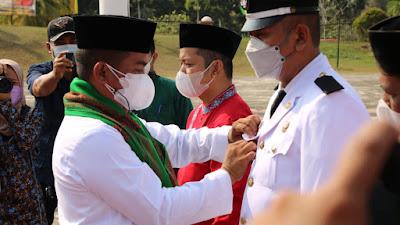 Bupati Pelalawan Pimpin Pelantikan dan Pengambilan Sumpah Jabatan Administrator Dan Jabatan Pengawas Di Lingkungan Pemerintah Kabupaten Pelalawan