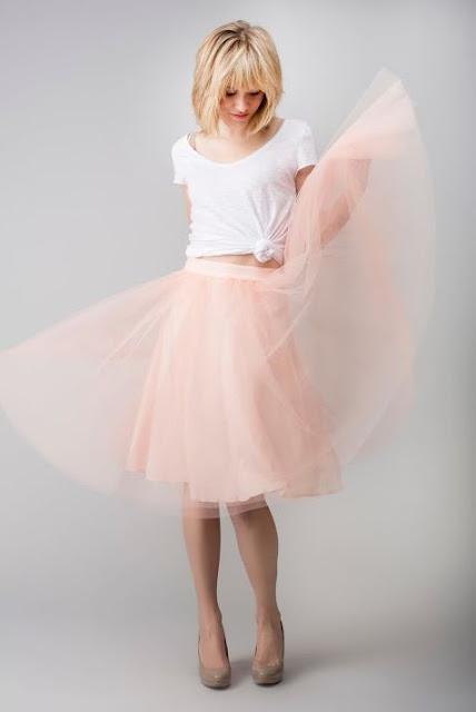 tulle skirt rosada
