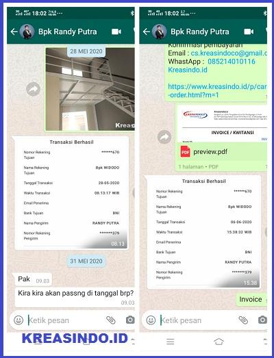 Partisi Kamar Mandi Kaca Tempered pesanan Bpk Randy Bekasi - Order Kedua