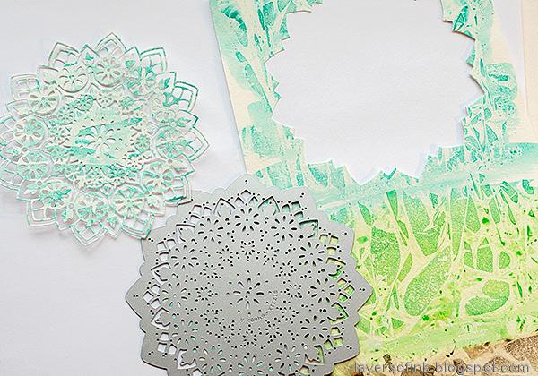 Layers of ink - Mandala Flower Card Tutorial by Anna-Karin Evaldsson. Die cut Eileen Hull Sizzix Mandala die.