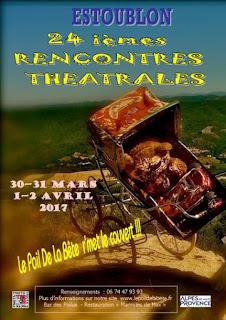 L'affiche des 24èmes Rencontres Théâtrales d'Estoublon