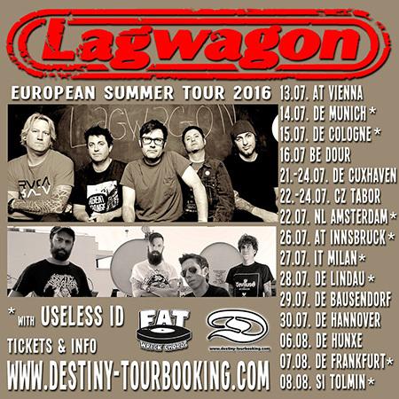 Lagwagon announce European Summer Tour 2016 with Useless ID