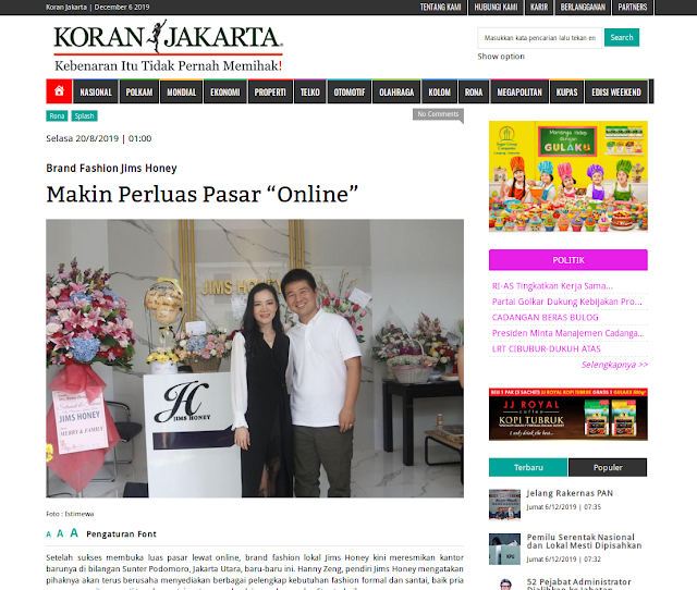 Brand Fashion Jims Honey Makin Perluas Pasar Online