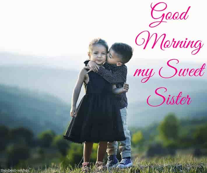 good morning sister cute pics