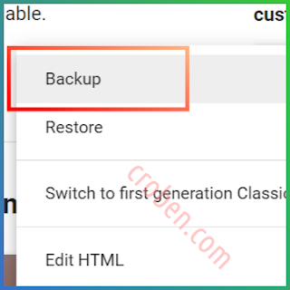 Back Up Themes In Blogger Step 3