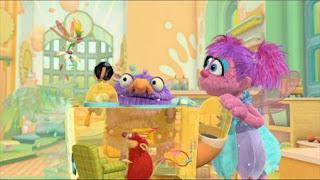 Abby's Flying Fairy School Niblet's Wand, Abby Cadabby, Blögg, Gonnigan, Mrs. Sparklenose, Sesame Street Episode 4413 Big Bird's Nest Sale season 44