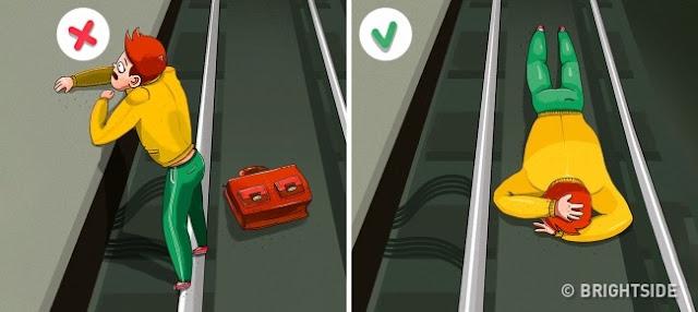 Berdepan Detik Mendebarkan Terjatuh Di Landasan Kereta Api, Lakukan Langkah Ini