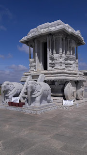 Stone chariot of Hampi mimicked of temple of Venugopala Swamy Temple