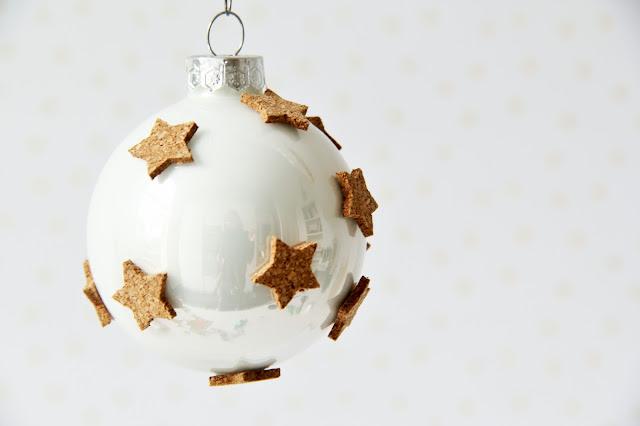 Gemaakt/ DIY, kerstbal, kerstmis, kurk, Studio Mojo,
