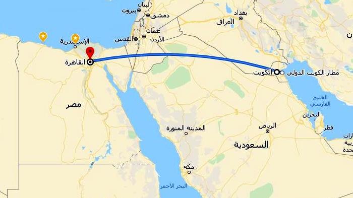 حجز طيران الجزيرة من الكويت الى مصر