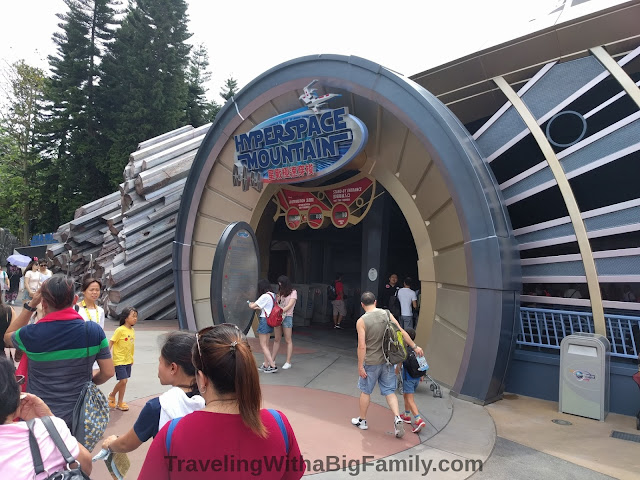 Going to the Star Wars roller coaster ride in Hong Kong
