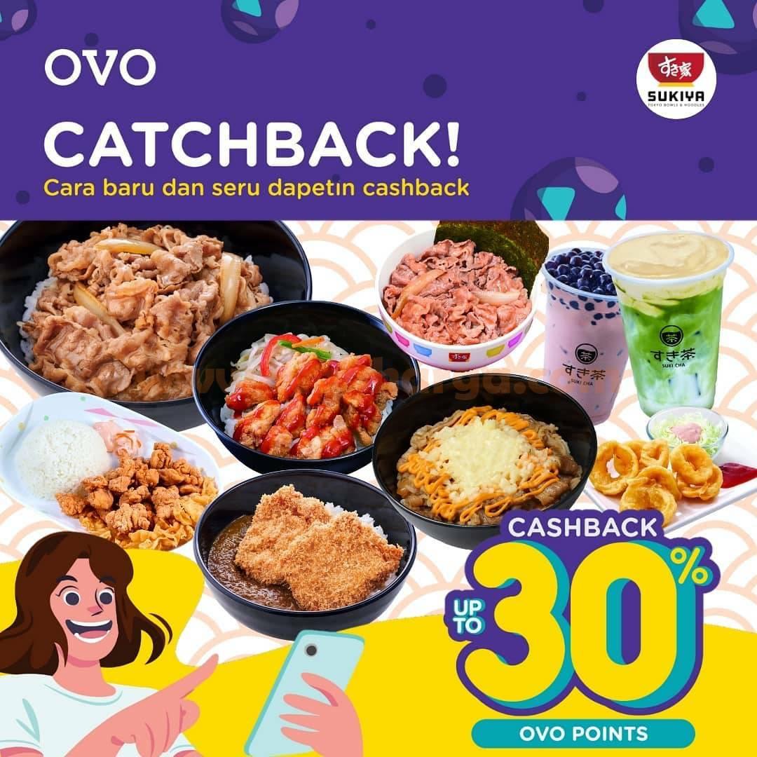 SUKIYA Promo OVO CATCHBACK! CASHBACK up to 30% OVO POINTS