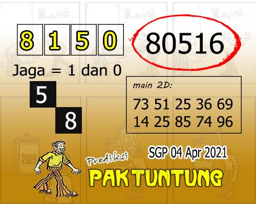 Syair SGP Minggu 04 April 2021 -