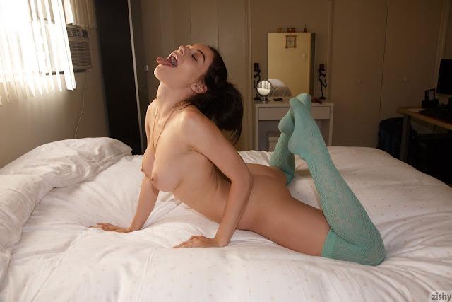 Lana Rhoades tongue out