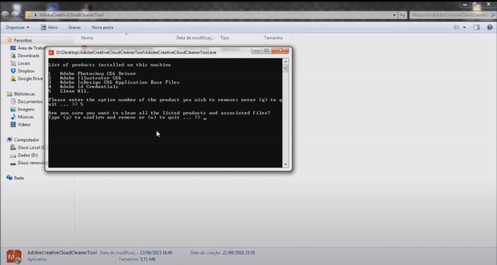 Erro Inconsistência no banco de dados do instalador Resolvido