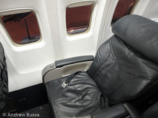 United Airlines First Class Seat 757 Reclined