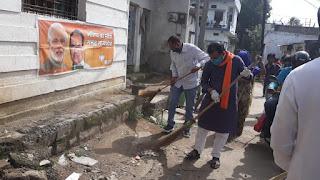भारतीय जनता पार्टी द्वारा प्रधानमंत्री नरेंद्र मोदी जी का जन्म दिवस सेवा सप्ताह के रूप में मनाया जा रहा
