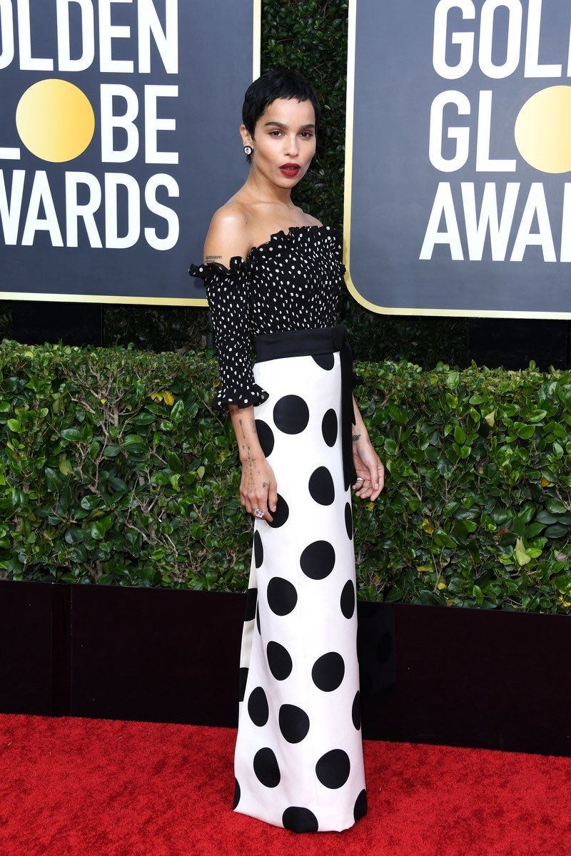 Zoe Kravitz is effortlessly fierce in Saint Laurent at the 2020 Golden Globe Awards