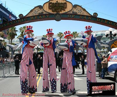 San Diego Comic Con stilt walkers