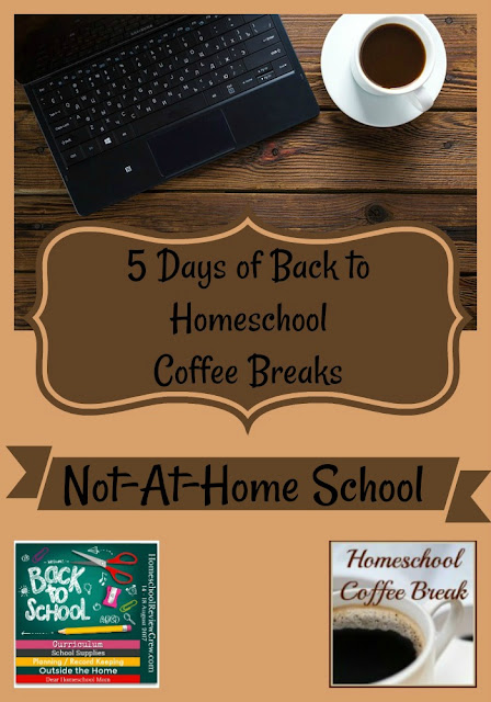 Back to Homeschool Coffee Break - Not-At-Home School - part of the Back to Homeschool Blog Hop, here on Homeschool Coffee Break @ kympossibleblog.blogspot.com and hosted by the Homeschool Review Crew @ HomeschoolReviewCrew.com