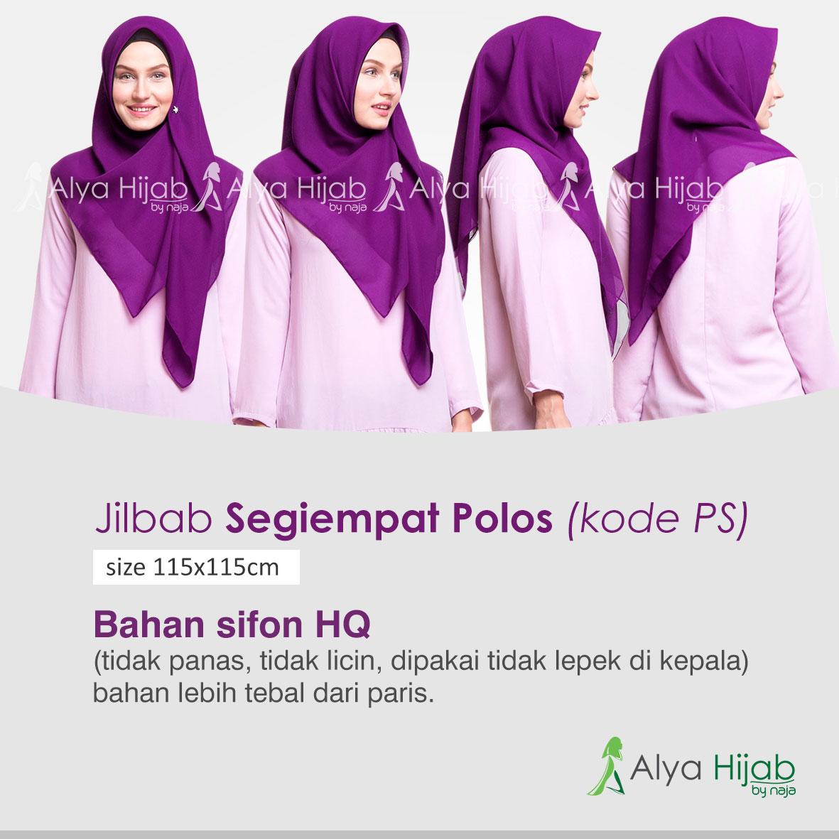 Jilbab Segiempat Polos Alya Hijab By Naja Jual Dan Produsen Segi Empat Paris