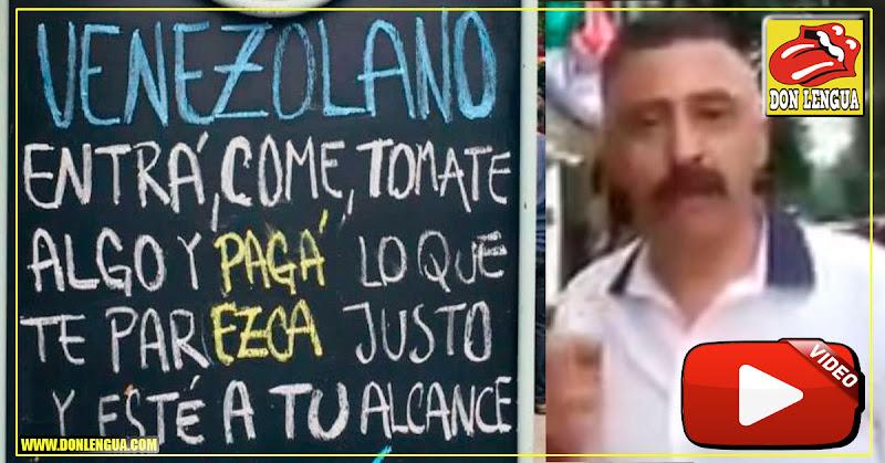 Dueño de pizzería en Argentina le envía un mensaje a los venezolanos