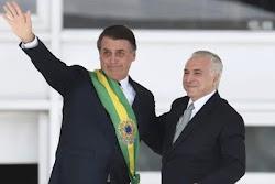 TEMER SE DIZ HONRADO POR CONVITE DE BOLSONARO PARA MISSÃO NO LÍBANO