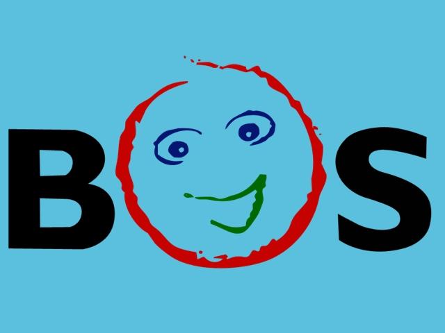 Logo BOS Background Biru