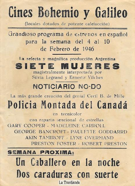 Policia Montada del Canadá - Programa de Cine - Gary Cooper - Madeleine Carroll - Preston Foster