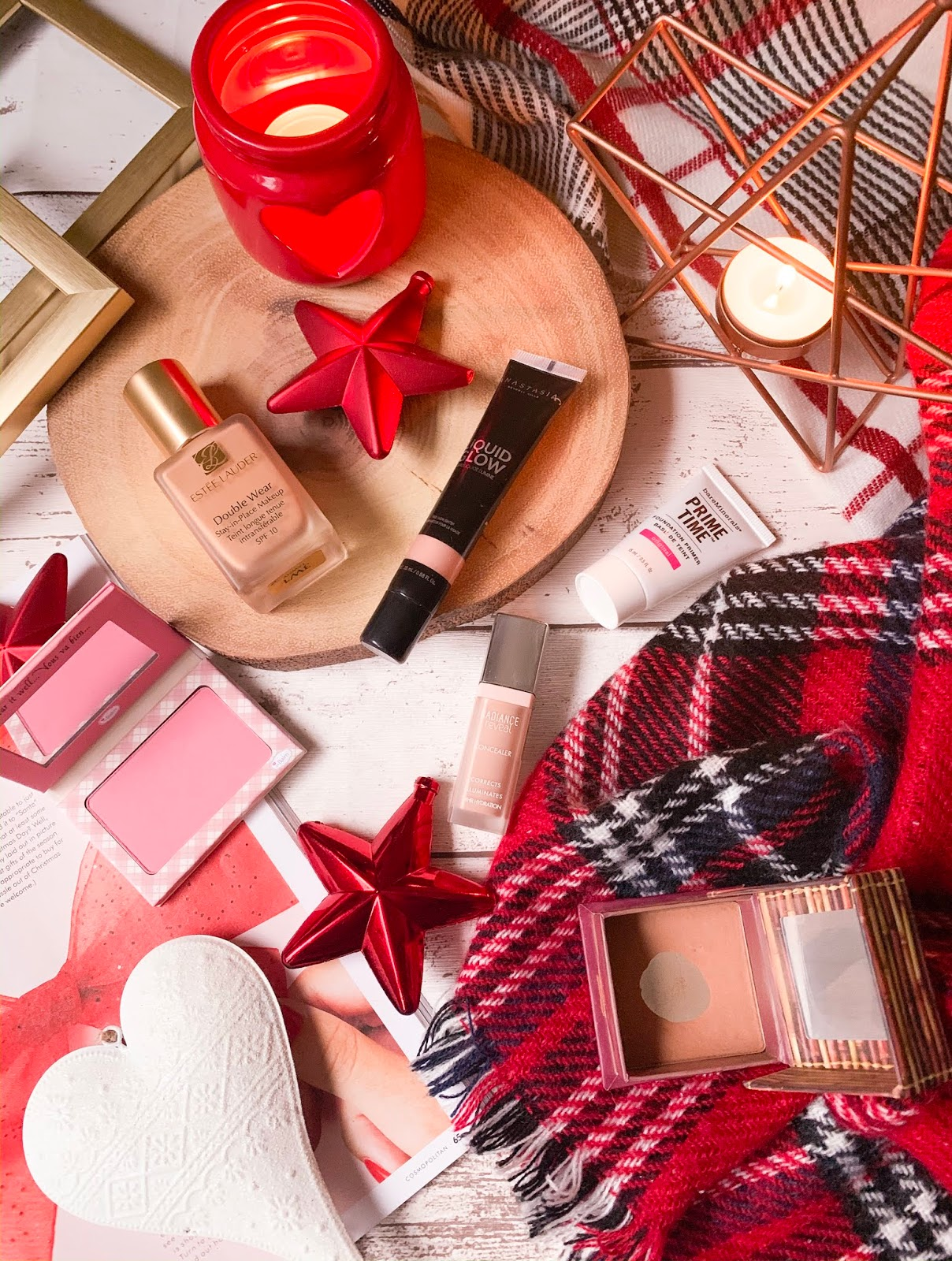 Base Products For Christmas Look Flatllay