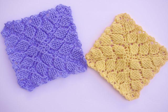 5 - Crochet Imagen Puntada colcha infinita de hojas en relieve a crochet por Majovel Crochet