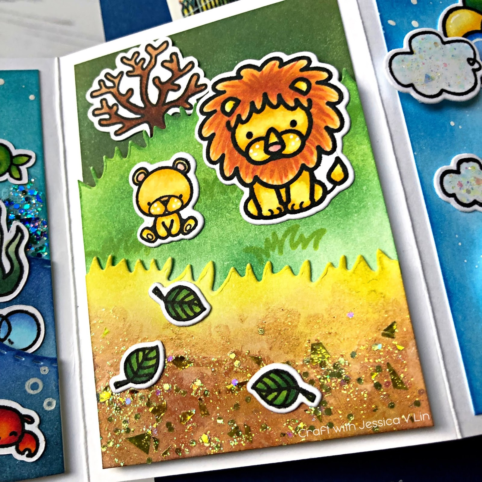 Lion-King-Copic-Twist-Pop-Card_WM.jpg-VersaFine Clair Memory Keeping