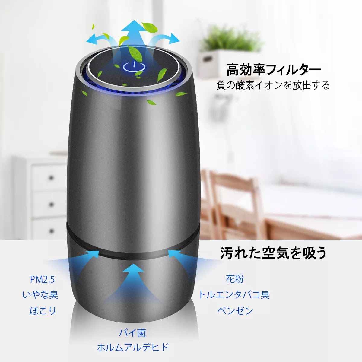 effef3999 Negative Ion Car Air Purifier Portable Air Cleaner with USB Ports Air  Filter Freshener for Baby