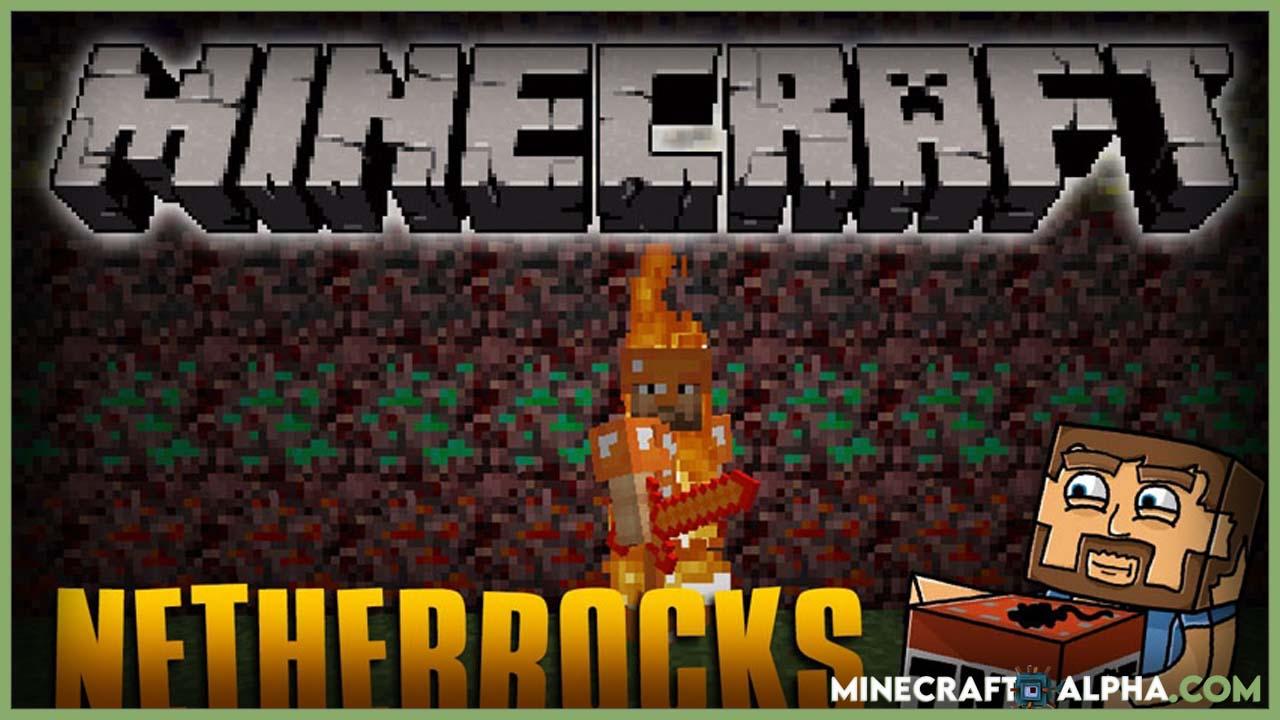 Minecraft Netherrocks Mod 1.17.1 (Nether Ores, Armor, Tool)