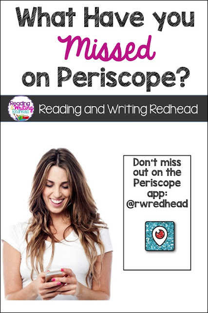 Reading and Writing Redhead: What have you missed on Periscope? Everything from organization tips, to tips from Jen Jones, to book suggestions for kids and more!