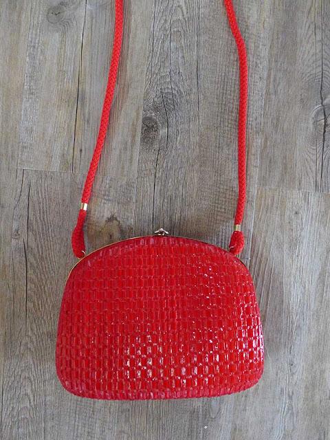 sac rouge rétro